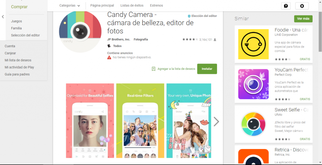 candy camera play store